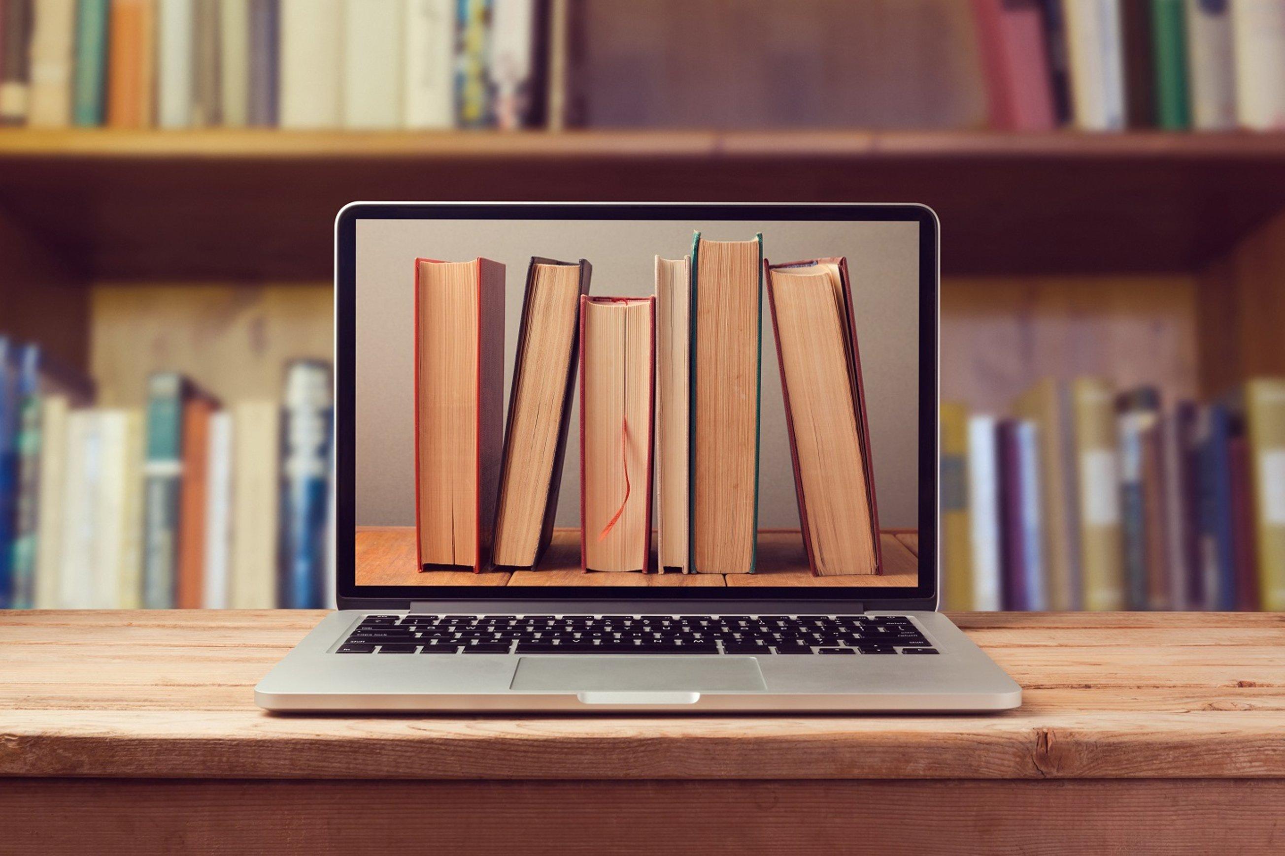 Картинки книга с компьютером